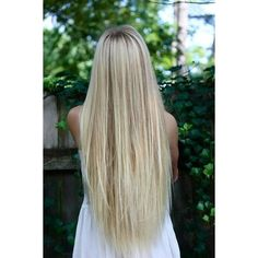 long silky straight blonde hair Hair and Beauty Tutorials ❤ liked on Polyvore featuring beauty products, haircare, hair styling tools, hair, hair styles, hairstyles and cabelos