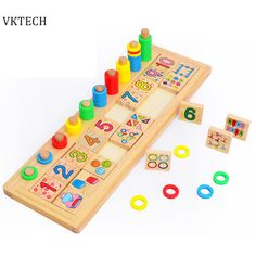 Educational Toys for Children Kids Baby Toys Puzzles Montessori Teaching Tool Math Number Board Preschool Wooden Toys Juguetes #Affiliate