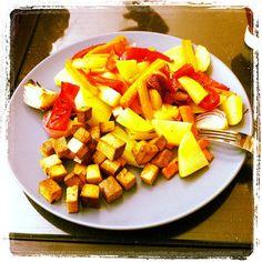 Ofengemüse mit Räuchertofu #karokocht