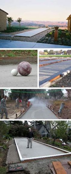 Backyard Games, Outdoor Games, Outdoor Life, Outdoor Living, Bocce Ball Court, Side Yard Landscaping, Side Yards, Outdoor Recreation, Outdoor Structures