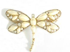 Vintage Dragonfly Brooch  1940's Monet Pin by houseofheirlooms, $ 64.00