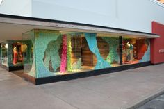 Anthropologie storefront ... using post-it notes.