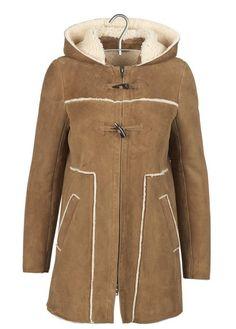 Duffle coat en peau de mouton retournée Boelle Marron by COMPTOIR DES  COTONNIERS Boutique Vetement Femme 984b9b4da47b
