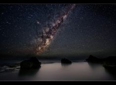 The Milky Way over Forrester's Beach by Jay Daley.