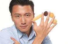 """Nicholas Tse introduced a line of best-selling cookies called """"Taste of Nic"""". Customers line up every day to buy them."""