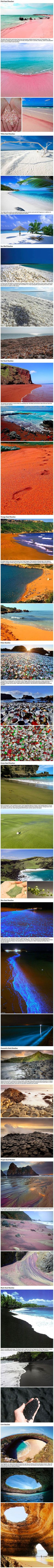Colored beaches