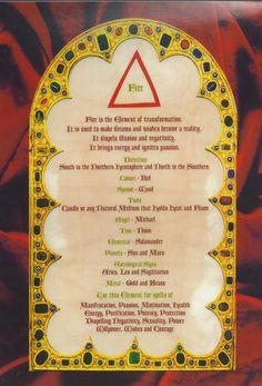 Elements Fire: #Fire. - Pinned by The Mystic's Emporium on Etsy
