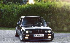 Descargar fondos de pantalla la optimización, el BMW 3-Series, E30, los coches alemanes, low rider, negro m3, la postura, el BMW