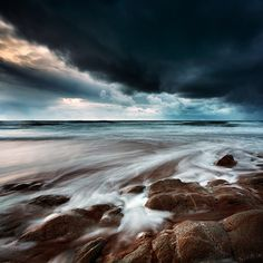Xavier Rey Photographies - Le temps d'une pose II | Before the Storm - Cote Sauvage - Quiberon, France 2013