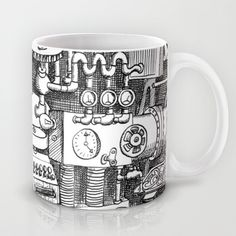 DINNER TIME Mug by Chicca Besso - $15.00