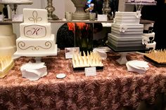 wedding cake bridal show booth and sample idea. The 2012 The Original Wedding Soiree at One King West Hotel in Toronto