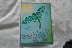 Dragonfly Designs Die Cut, background done with Distress Oxides Distress Oxides, Birthday Greetings, I Card, Handmade, Design, Hand Made, Birthday Congratulations, Craft, Design Comics