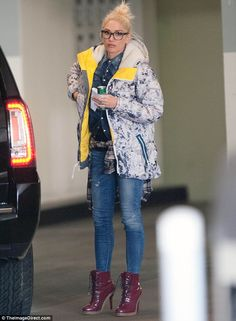Why so glum? Gwen Stefani appeared downcast while running errands in Beverly Hills on Mond...