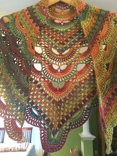 Ravelry: Project Gallery for Virus Meets Granny Shawl pattern by Jinty Lyons
