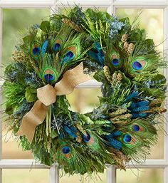 Isn't this beautiful? (Anyone else hear that peacock feathers are bad luck?)