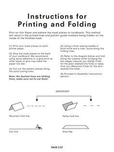 Bison, Origami, Sewing, Prints, Pattern, Dressmaking, Couture, Stitching, Patterns
