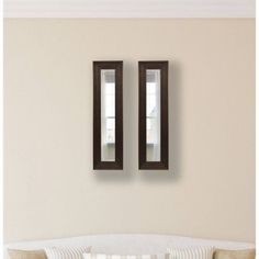 Rayne Barnwood Brown Mirror Panel, Set of 2