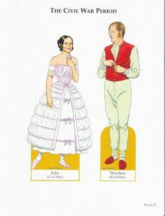 American Family of the Civil War Era   Gabi's Paper Dolls