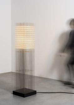 Swarm Study / X, a floor lamp by Random International Cool Lighting, Modern Lighting, Lighting Design, Lighthouse Lamp, Outdoor Shelves, Modern Floor Lamps, Futuristic Furniture, Light Installation, Lamp Design