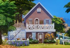 gululuevan: Small house for young couples or living aloneNO. Sims 4 House Building, The Sims 4 Lots, Gamer Tags, Sims 4 Build, Sims 4 Houses, Sims 4 Cc Finds, Sims 4 Mods, Sims 4 Custom Content, Young Couples