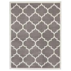 Ottomanson Contemporary Moroccan Trellis Gray 7 ft. 10 in. x 9 ft. 10 in. Area Rug PTR1553-8X10 at The Home Depot - Mobile