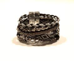 Bracelete Vintage Cinza — Dáli Acessórios