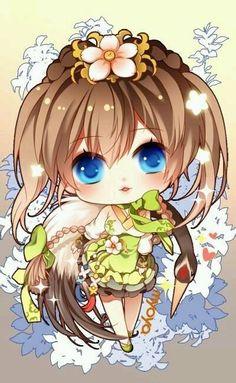 nh anime minh thu th?u nhiên # amreading # books # wattpad Chibi Kawaii, Art Kawaii, Cute Anime Chibi, Anime Kawaii, Anime Love, Dibujos Anime Chibi, Otaku, Chibi Characters, Chibi Girl