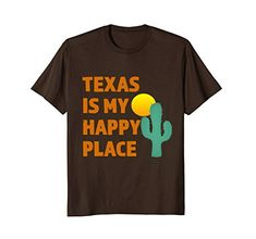 Texas Is My Happy Place Sun Cactus Cute Gift T-Shirt | This shirt is great for men, women and children who live in or love the great State of Texas.   Wear on vacation or for fun #tshirt #texas #happy https://www.amazon.com/dp/B072P2JFCF/ref=cm_sw_r_pi_dp_U_x_uau2AbY869MRJ