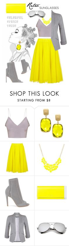 """""""#retrosunglasses"""" by liligwada ❤ liked on Polyvore featuring Effy Jewelry, Essentiel, Gianvito Rossi, PS Paul Smith and Miss Selfridge"""