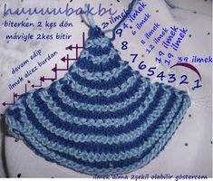 mormenekşeler: dikdörtgen şal-etol örgü Knitting Short Rows, Knitting Stitches, Knitting Designs, Baby Knitting, Knitting Patterns, Crochet Patterns, Knitted Booties, Knitted Hats, Crochet Shawl