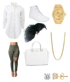 """Out"" by princesskdot ❤ liked on Polyvore featuring rag & bone, Vans, Rolex, Marc by Marc Jacobs and Michael Kors"