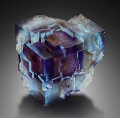 Fluorite | #Geology #GeologyPage #Mineral  Locality: Minerva Mine, Hardin Co., Illinois, USA  Size: 4.5 x 4.5 x 3 cm  Photo Copyright © DI Anton Watzl  Geology Page www.geologypage.com