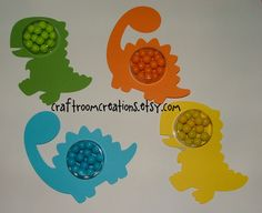 Fill-able Pre Historic Dinosaur Birthday Party Favors in a Do it Yourself Kit