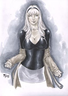 Gwen Stacy artwork by Fred Benes. Lady Loki, Gwen Stacy, Marvel Characters, Female Characters, Marvel Spider Gwen, Comic Pictures, Comic Pics, Comic Art, Black Cat Marvel