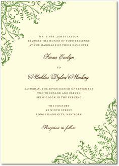 Fine Filigree:Emerald, can get custom color  #weddingpaperdivas