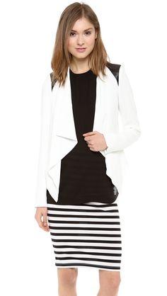 BB Dakota Margo Jacket, Dirty White/Black