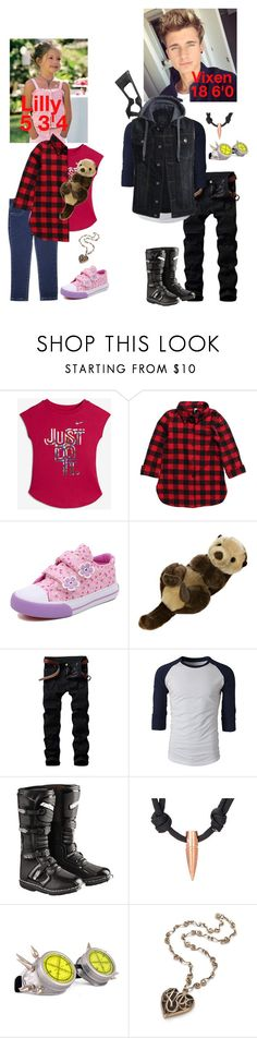 """""""Lilly and her big brother Vixen"""" by bumble-bucky ❤ liked on Polyvore featuring NIKE, Aurora World and RIFLE"""