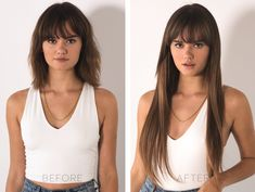 Apr 2020 - Did you know our Seven Sisters clip in hair extensions are customizable to achieve the length and volume you've always wanted? For the ultimate bombshell look, pair both the & sets 💥 . Long Hair With Bangs, Haircuts With Bangs, Short Curly Hair, Curly Hair Styles, Bangs For Round Face, Easy Hairstyles, Girl Hairstyles, Long Straight Hairstyles, Lace Hair