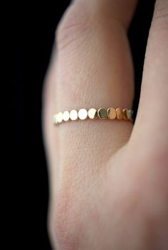 Gold Bead Stack ring One Single Gold Fill stacking ring stackable rings thick gold ring gold ring thick gold band textured ring Ring Set, Ring Verlobung, Hand Ring, Bijoux Design, Jewelry Design, Designer Jewelry, Bling Bling, Gold Pearl Ring, Ringe Gold