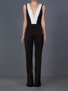 MARES M&GUIA - Macacão preto e branco 7 Girl Outfits, Fashion Outfits, Womens Fashion, Jumpsuit Elegante, Playsuits, Jumpsuits, Look Chic, Mode Style, Party Fashion