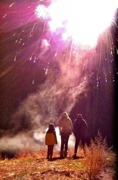 We get a cool firework show every winter in our neighborhood. This is from last year. Private show. We stand right underneath them.