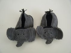 Elephant Crochet Baby Shoe.. Cuteness! @Lacey McKay McKay Vanderpool You need to start learning this haha.