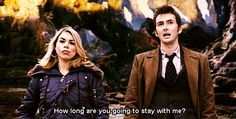 doctor who Rose Tyler ten doctor x rose Doomsday army of ghosts dwgifs Doctor Who Rose, Rose And The Doctor, 10th Doctor, Donna Noble, Billie Piper, Rose Tyler, Matt Smith, If I Stay, Time Lords