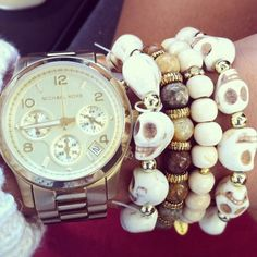 Check out the skull bracelets!