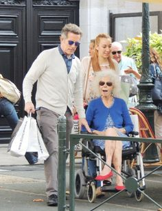 Duchess of Alba Cayetana Fitz-James Stuart (R) and her husband Alfonso Diez are seen on 25 July 2014 in Saint Jean de Luz, France.