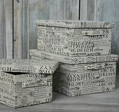 Newspaper print storage boxes ...http://stores.ebay.co.uk/Silver-Moon-Home-Accessories https://www.facebook.com/OrchardLaneInteriors