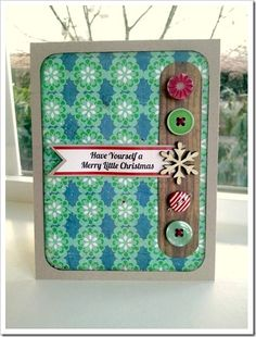 Day #11 - This card was created by Melanie Jarocki using the products included the November 2011 Hip Kit.  She used a September Card Maps Sketch as her inspiration.