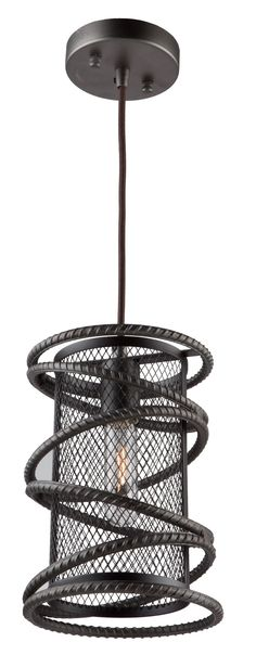 Features: -Collection: Rebar Studio. -Number of lights: 1. Product Type: -Foyer pendant. Style: -Modern. Shade Material: -Metal. Finish: -Brown. Material: -Metal. Bulb Type: -Incandescent. Nu