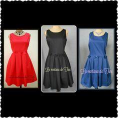 La ventana de Tini: Vestidos!!! rojo, negro, azul red, black, blue
