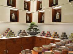 Boutique comptoir de thés - Thé du Dragon - designer d'intérieur commercial moodesign, Montréal